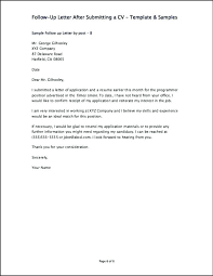 Sample Follow Up Letter After Sending Resume Hospinoiseworksco