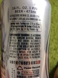 Coors Light Nutrition Facts 16 Oz Coors Light Beer