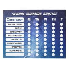 Cool Kids Space Daily Routine Checklist Notepad Zazzle Com Au