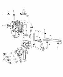 2014 dodge journey engine mounting left side diagram i2301382