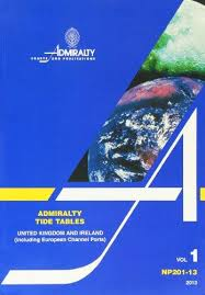 Admiralty Tide Tables Volume 1 United