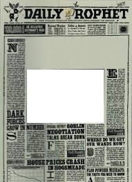 Harry Potter Newspaper Template Daily Prophet Printable Clipart Images Gallery For Free