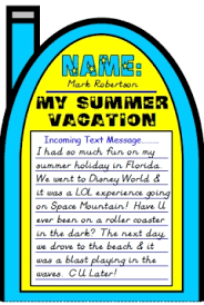 how i spent my summer vacation lesson plans author mark teague cell phone project templates