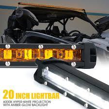 Daylight Led Light Bar Xprite 20 Inch Single Row Led Light Bar Amber Backlight For Jeep Jk Truck Utv