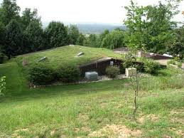 Berm Home built into the ground is energy efficient.