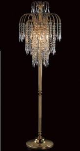 standing chandelier floor lamp modern elegant crystal fancy throughout lamps standard for red overhanging contemporary tall living room arc