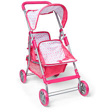 tinkers doll twin stroller pink