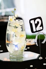 Goldfish in the centerpieces add dimension and movement for a unique touch.  Your guests will