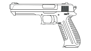Guns Coloring Pages Nerf Logo Gun Colouring Pictures Sniper To Print