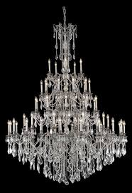 rosalia 55 light pewter chandelier clear spectra swarovski crystal