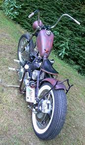 photo of harley sportster bobber with 1972 ironhead engine in