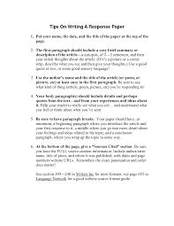 writing reaction paper how to write a response paper tips on writing by qeb mxogqx u