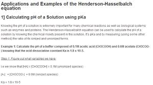 Henderson Hasselbalch Applications And Example Problems Using Henderson