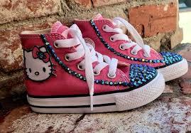 Mens Chuck Taylors Size Chart Baby Chuck Taylors Bling Hello Kitty Converse Toddlers Hello Kitty Converse Sneakers Hello Kitty Toddlers Size 6 Shoes Baby Keepsakes