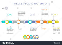 History Timeline Template Vector Infographic Of Your Company