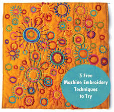 49 best Embellishment Techniques images on Pinterest | Embroidery ... & Explore 5 machine embroidery techniques in this free tutorial from Quilting  Daily. Download it today Adamdwight.com