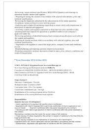 quantity surveyor resume quantity surveyor resume