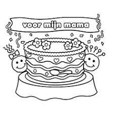 Verjaardags Kleurplaat Mama Norskiinfo