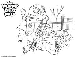 Puppy Dog Pals Color Sheets Christmas Coloring Pages Free Colouring