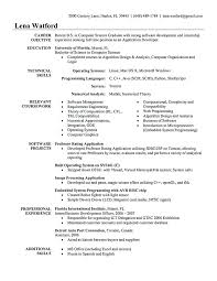 Computer Engineering Resume Samples Cover Letter Sample For Computer
