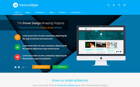 Style Template Material Style Material Design For All Wrapbootstrap