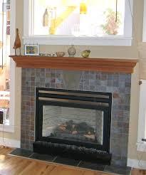 limestone tile fireplace surround shelf glass mosaic