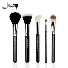 jessup 5pcs high quality pro makeup brush set beauty foundation duo fibre contour concealer powder make up brushes kit tool t118