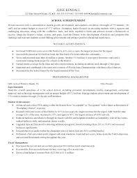 School District Superintendent Resume Professional Resume Templates