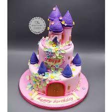 Princess Pink And Violet Castle 3d Cake Singapore Singaporecake