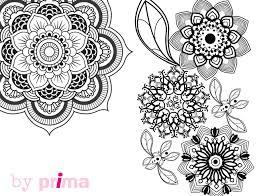Mandala Et Coloriage Fleur Imprimer Mandalas Debutant Et Agr Able
