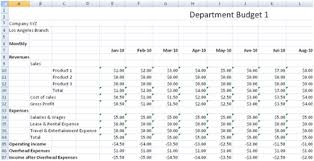 Samples Of Budget Spreadsheets Free Departmental Budgeting Spreadsheet