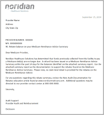 Rebate Summary Letters Noridian