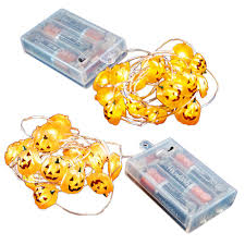 Battery Operated Halloween Mini Lights Lumabase Battery Operated Led Waterproof Mini String Lights With Timer 20 Count Jack O Lantern Set Of 2