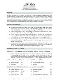 Example Of Profile In Resume Directory Resume