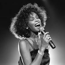 whitney black white. Whitney Houston Performing 1 Black White