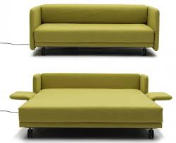 modern sleeper sofa. Furniture, Maximizing Small Spaces Using Modern Sleeper Sofa Queen With  Green Fabric Cover And Fold Out Bed Wheels Ideas ~ Modern Sleeper Sofa