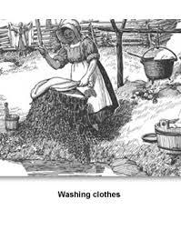 pioneer woman clothing drawing. keeping house 03 washing clothes pioneer woman clothing drawing