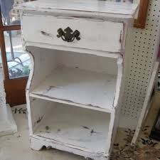 shabby chic nightstand. Cottage Chic Painted Nightstand Shabby One Drawer Nightst Throughout