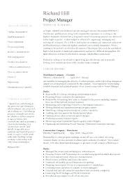 Senior Project Manager Resume Example Best of Management Resume Example Resume Templates Word Inside Management