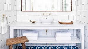 white square tile bathroom. Beautiful White White And Blue Bathroom With Mediterranean Tiles Intended Square Tile R