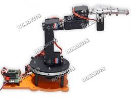 robotic arm 6 dof aluminium clamp diy with 18 servo controller