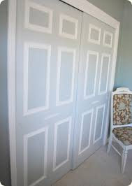 painted closet doors. What A Genius Idea For Making Those Boring White Sliding Closet Doors Actually Look Sophisticated! Painted Pinterest