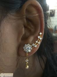 Ear Cuffs Indian Design 235 Ger9929 22k Gold Earrings Ear Cuffs With Cz