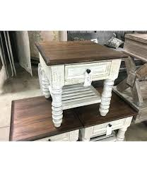 white farmhouse table black chairs stone end oak top head springs depot inc by