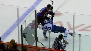 Tempers flare after Zadorov lays massive hit on Scheifele - YouTube