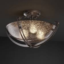 justice design fsn 9711 crossbar semi flush round bowl shade with mercury glass hayneedle