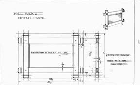mirror frame drawing. Hall Rack Or Mirror Frame | Mechanical Drawing Drawing R