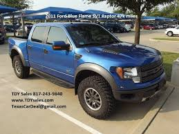 An Official Off Road machine Blue Flame 2011 Ford F-150 SVT Raptor ...