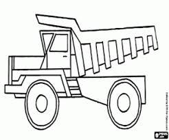 Kleurplaat Een Mijnbouw Vrachtwagen Kleurplaten