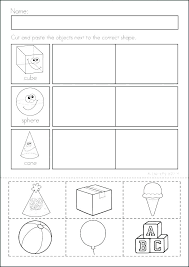Curriculum Kindergarten Worksheets Grade Cutting Shapes For ...